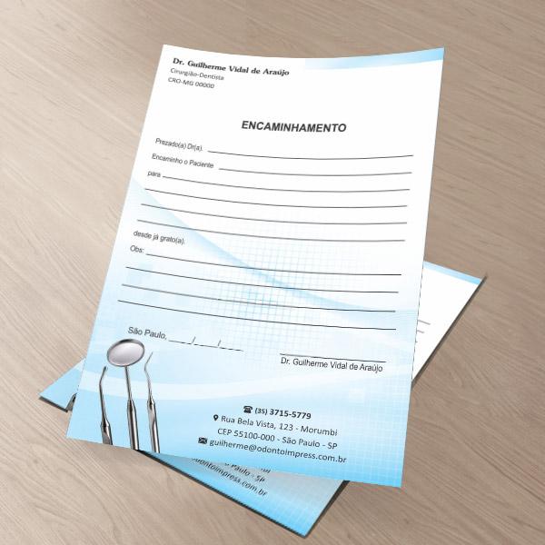 Bloco Encaminhamento Paciente - Ref. 0693  - Odonto Impress