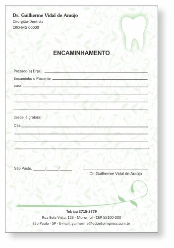 Bloco Encaminhamento Paciente - Ref. 0694