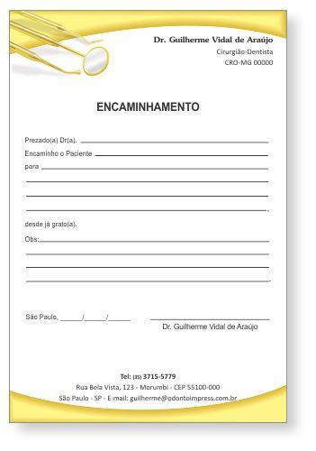 Bloco Encaminhamento Paciente - Ref. 0695