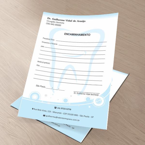 Bloco Encaminhamento Paciente - Ref. 0696
