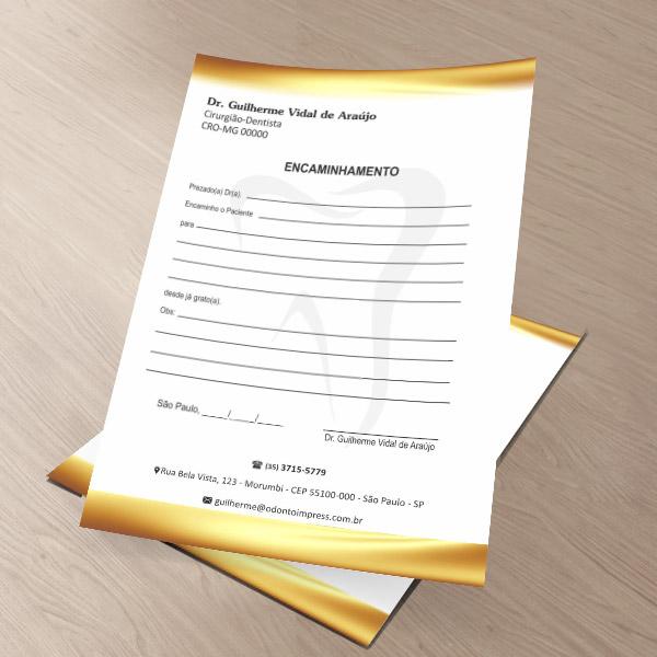 Bloco Encaminhamento Paciente - Ref. 0698