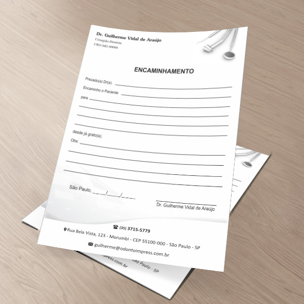 Bloco Encaminhamento Paciente - Ref. 0699