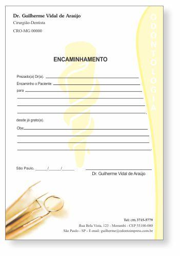 Bloco Encaminhamento Paciente - Ref. 3404