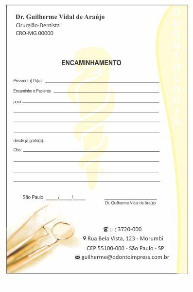 Bloco Encaminhamento Paciente - Ref. 3404  - Odonto Impress