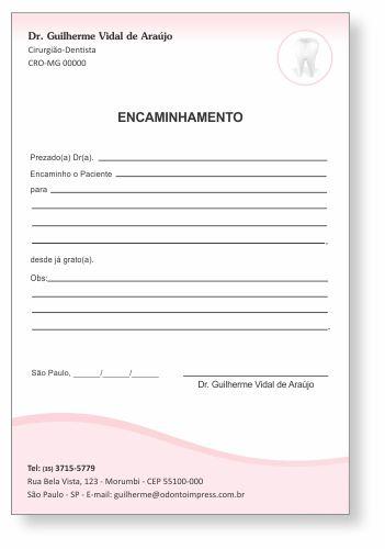 Bloco Encaminhamento Paciente - Ref. 3407