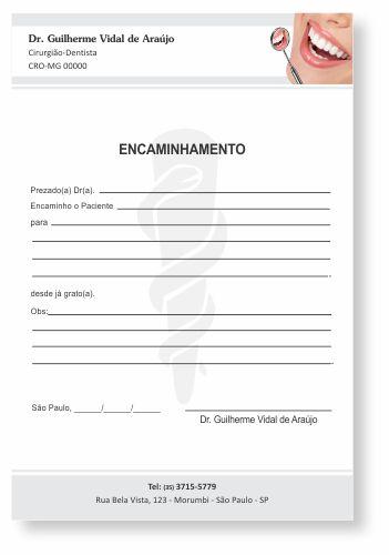 Bloco Encaminhamento Paciente - Ref. 3409