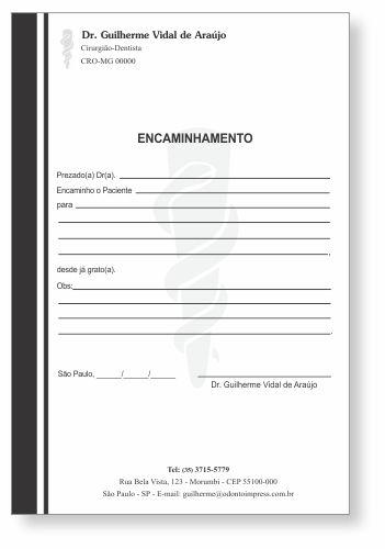 Bloco Encaminhamento Paciente - Ref. 3411