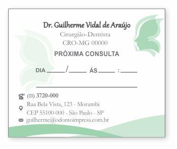 BLOCO PARA MARCAÇÃO DE RETORNO - HOF - REF. 1178  - Odonto Impress