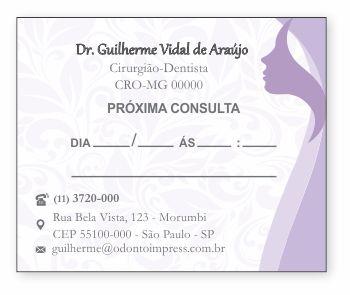 BLOCO PARA MARCAÇÃO DE RETORNO - HOF - REF. 1181  - Odonto Impress