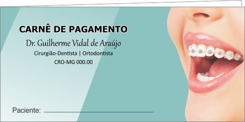 CAPA Carnê de Pagamento - Ref. 1307  - Odonto Impress