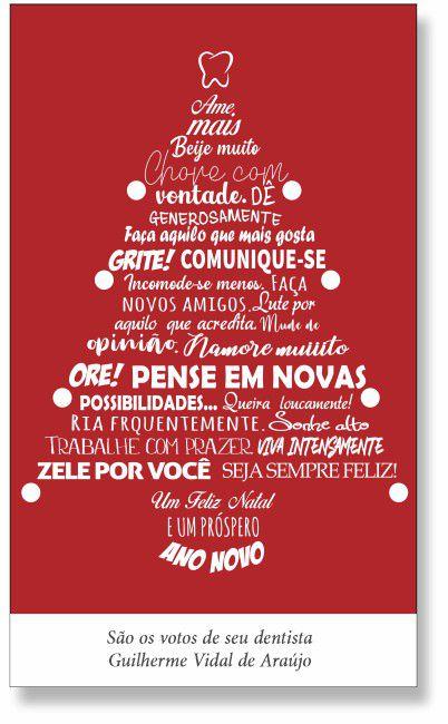 Cartão de Natal - Ref. 1625  - Odonto Impress