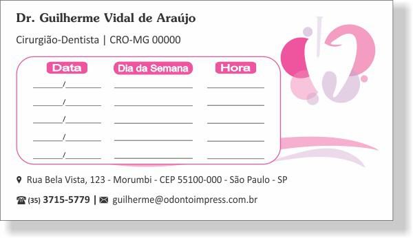 Cartão de Retorno ENDODONTIA - Ref. 2094  - Odonto Impress