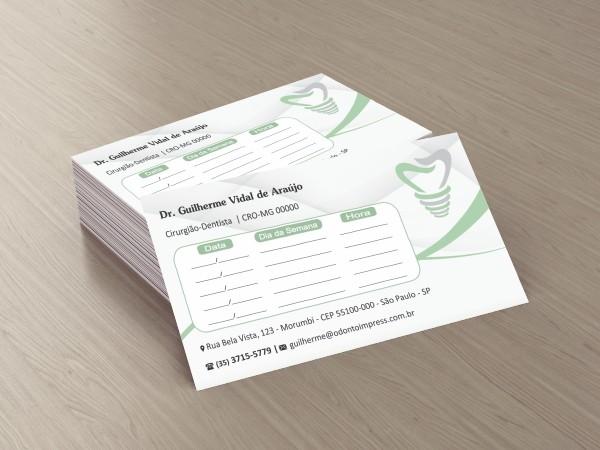 Cartão de Retorno IMPLANTODONTIA - Ref. 2058  - Odonto Impress