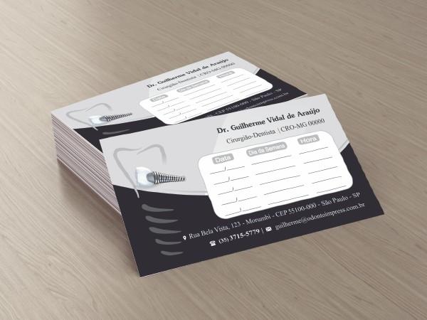 Cartão de Retorno IMPLANTODONTIA - Ref. 2060  - Odonto Impress