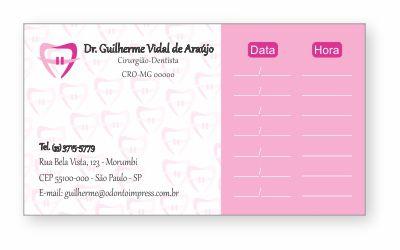 Cartão de Retorno ORTODONTIA - Ref. 2065  - Odonto Impress