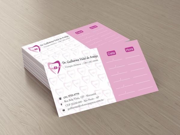 Cartão de Retorno ORTODONTIA - Ref. 2065