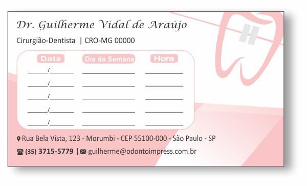 Cartão de Retorno ORTODONTIA - Ref. 2074  - Odonto Impress