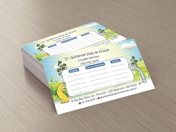 Cartão de Retorno PEDIATRIA - Ref. 2044  - Odonto Impress