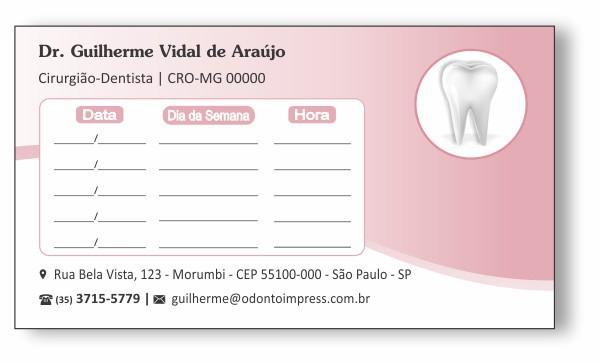 Cartão de Retorno - Ref. 2007  - Odonto Impress