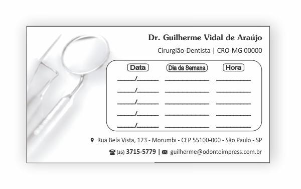 Cartão de Retorno - Ref. 2013  - Odonto Impress