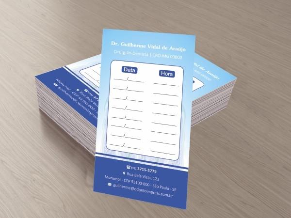 Cartão de Retorno - Ref. 2091  - Odonto Impress