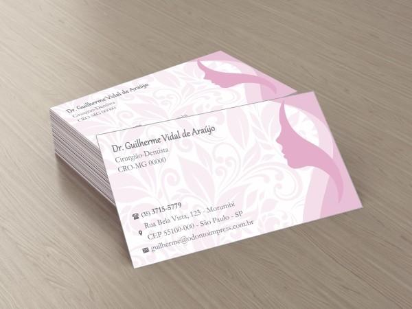 Cartão de Visita Classic HOF - Ref. 0878  - Odonto Impress