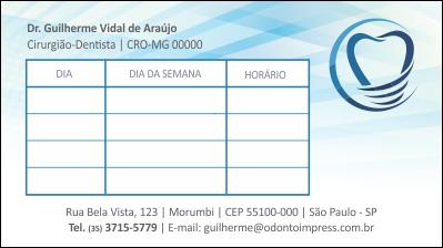 Cartão de Retorno IMPLANTODONTIA - Ref. 2057