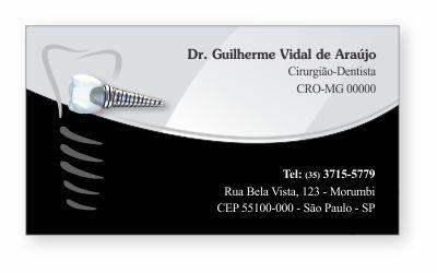 Cartão de Visita Classic IMPLANTODONTIA - Ref. 1860  - Odonto Impress