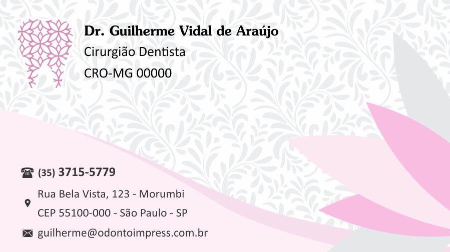CARTÃO DE VISITA CLASSIC - REF. 0870  - Odonto Impress