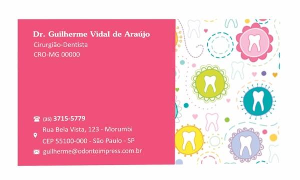 Cartão de Visita Classic - Ref. 0881  - Odonto Impress