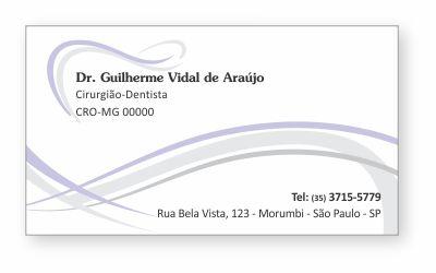 Cartão de Visita Classic - Ref. 0884  - Odonto Impress