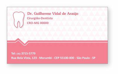 Cartão de Visita Classic - Ref. 0885  - Odonto Impress