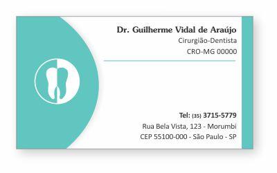 Cartão de Visita Classic - Ref. 0886  - Odonto Impress