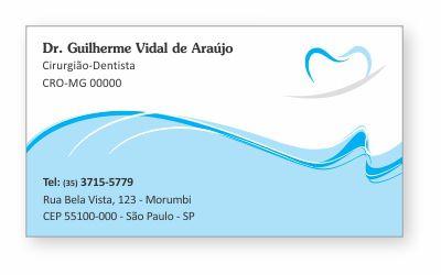 Cartão de Visita Classic - Ref. 0887  - Odonto Impress