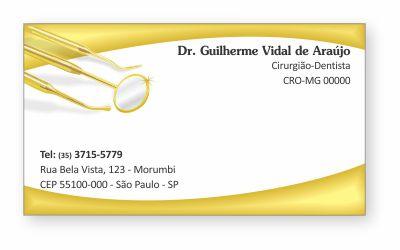 Cartão de Visita Classic - Ref. 0895  - Odonto Impress