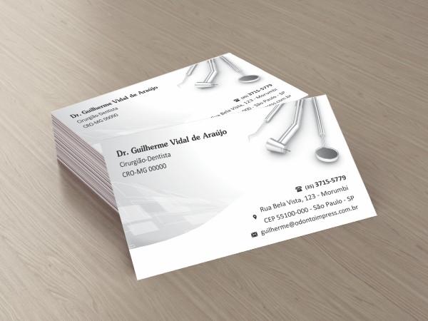 Cartão de Visita Classic - Ref. 0899  - Odonto Impress