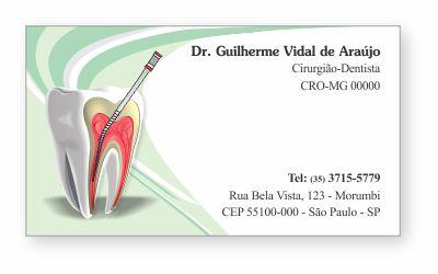 Cartão de Visita Premium ENDODONTIA - Ref. 1993
