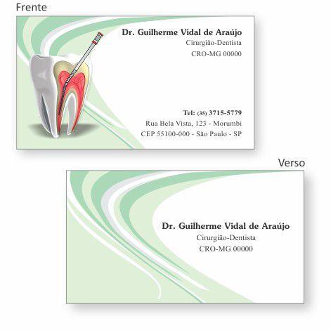 Cartão de Visita Premium ENDODONTIA - Ref. 1993  - Odonto Impress