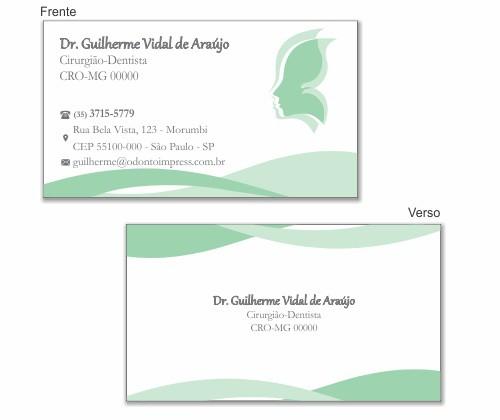 CARTÃO DE VISITA PREMIUM - HOF - REF. 0976  - Odonto Impress
