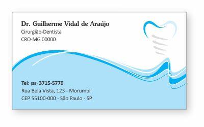Cartão de Visita Premium IMPLANTODONTIA - Ref. 1959