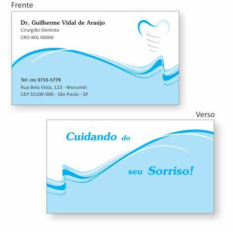 Cartão de Visita Premium IMPLANTODONTIA - Ref. 1959  - Odonto Impress