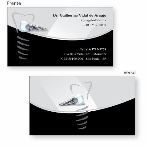 Cartão de Visita Premium IMPLANTODONTIA - Ref. 1960  - Odonto Impress