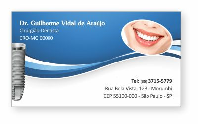 Cartão de Visita Premium IMPLANTODONTIA - Ref. 1962  - Odonto Impress