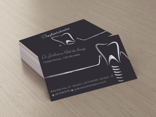 Cartão de Visita Premium IMPLANTODONTIA- Ref. 1963  - Odonto Impress