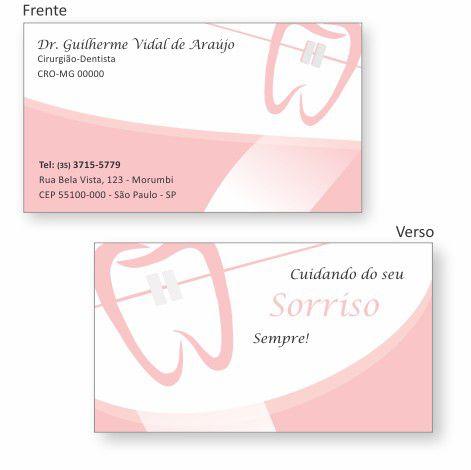 Cartão de Visita Premium ORTODONTIA- Ref. 1974  - Odonto Impress