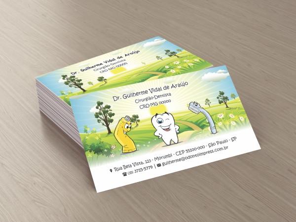 Cartão de Visita Premium PEDIATRIA - Ref. 1944  - Odonto Impress