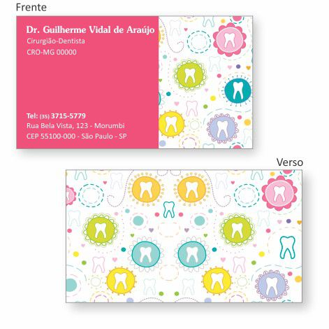 Cartão de Visita Premium - Ref. 0981  - Odonto Impress