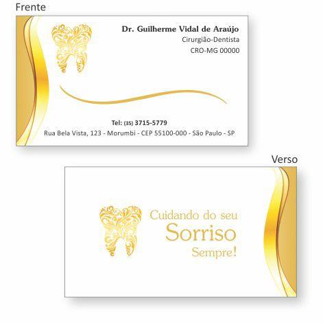 Cartão de Visita Premium - Ref. 0982  - Odonto Impress