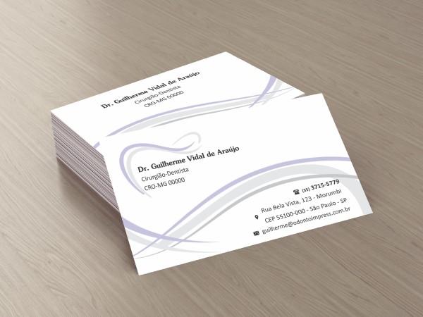 Cartão de Visita Premium - Ref. 0984  - Odonto Impress