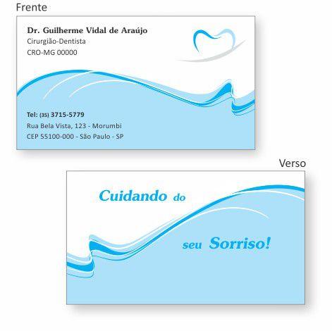 Cartão de Visita Premium - Ref. 0987  - Odonto Impress